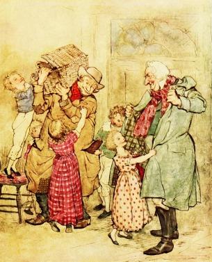 An Weihnachten überrascht Scrooge schließlich die Familie Cratchit. Er wird ein besserer Mensch.